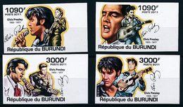 BURUNDI 2011 - Elvis Presley - 4 Val ND Neufs // Mnh // CV 36.00 Euros - Elvis Presley