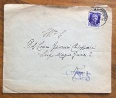 UNIVERSITA' POPOLARE ROMANA BUSTA E LETTERA CON AUTOGRAFO DEL PRESIDENTE PER  CITTA' IN DATA 8/11/44 - 1900-44 Vittorio Emanuele III
