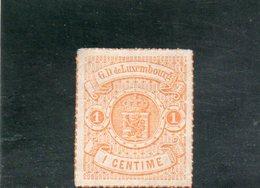 LUXEMBOURG 1865-73 SANS GOMME ORANGE - 1859-1880 Wappen & Heraldik