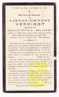 DP Lievin Ernest Verkindt ° Wijtschate 1844 † 1922 X Amelie S. Bollaert - Images Religieuses