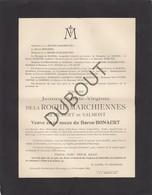 Doodsbrief Jeanne Bonaert De La Roche Marchiennes °1861 Ghlin †1912 Harveng Kasteel Van Marchienne (L68) - Overlijden