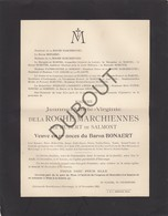 Doodsbrief Jeanne Bonaert De La Roche Marchiennes °1861 Ghlin †1912 Harveng Kasteel Van Marchienne (L68) - Obituary Notices