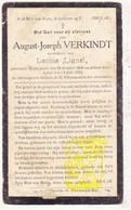 DP August J. Verkindt ° Wijtschate Heuvelland 1838 † 1922 X Leonie Lignel - Images Religieuses
