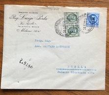 FLOREALE 25 C. Coppia + L.1,25 Su Busta Da MILANO A BIELLA IN DATA  28/5/28 - 1900-44 Vittorio Emanuele III