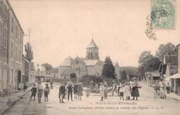 91 1 SOISY SOUS ETIOLLES Rues Galignani Notre Dame Et Abside De L'Eglise - France