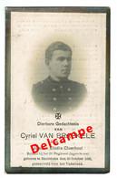 Lot 005 Oorlogsslachtoffer Van Braekele Cyriel Meulebeke 30 Oktober 1892 Gesneuveld Voor Het Vaderland - Images Religieuses