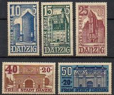 DR - Abst.geb. - Danzig: 1936  MiNr. 262/ 266  **/ Mnh;  Winterhilfswerk: Tore Der Stadtmauer - Deutschland