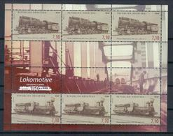 Kroatien Klb. 'Lokomotiven, Viadukt' / Croatia Sh. 'Locomotives, Railway Bridge' **/MNH 2012 - Trains