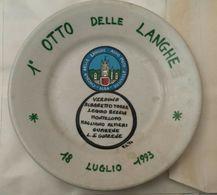 ALBA 1993 I OTTO DELLE LANGHE Circuito Auto E Moto Storiche PIATTO COMMEMMORATIVO. - Obj. 'Souvenir De'