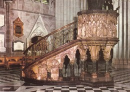 Postcard Worcester Cathedral The Nave Pulpit My Ref  B23366 - Worcestershire
