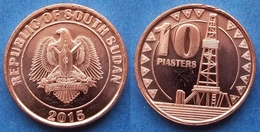 """SOUTH SUDAN - 10 Piastres 2015 """"desert Oil Drilling Rig"""" KM# 1 - Edelweiss Coins - Coins"""