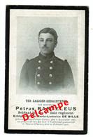 Lot 008 Oorlogsslachtoffer Basteleus Petrus Soldaat 4de Linie Sint-Pieters-Leeuw 1881 Gesneuveld Veurne 20 Feb 1916 - Images Religieuses