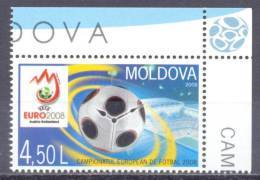 2008. Moldova, Football Cup EURO'2008, 1v, Mint/** - Moldavie