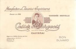 Buvard Ancien MANUFACTURE DE CHICOREES SUPERIEURES - CAMBRAI - Café & Thé