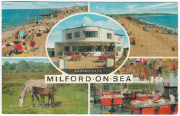 MILFORD-ON-SEA Multiview Posted 1988(?) (J Salmon, 2-00-01-44) [P117/1D] - England