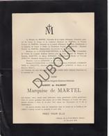 Doodsbrief Marie Josephine Virginie Sidonie Mathilde Hubert De Salmont Marquise De Martel °1851 Ghlin †1914 Paris L69) - Obituary Notices
