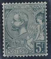 Monaco Variétés  N° 47 A 5f Albert 1er Vert-gris Très Clair Qualité: * Cote: 590 € - Monaco