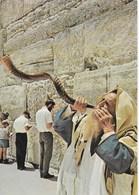 Israël - Jérusalem : Mur Des Lamentations - Blowing The Shobar By Wailing Wall - Israel