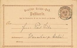 MÜHLRAEDLITZ  -  1874 , Ganzsache Nach Werneuchen - Germany