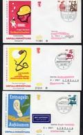 WB: 1971, 1972, 1973  MiNr. 403, 404, 406, 407, 408, 410, 411  FDC  Befördert,, 402 FDC;  Rollenmarken Unfallverhütung - [5] Berlin