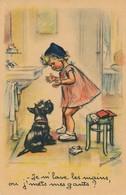 I37 - Illustrateur - Germaine Bouret - Je M'lave Les Mains Ou J'mets Mes Gants? - Bouret, Germaine