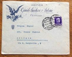 PRATO LANIFICIO GUIDO LUCCHESI Fu Antonio BUSTA PUBBLICITARIA PER BOLOGNA IN DATA 13/5/35 - 1900-44 Vittorio Emanuele III