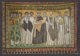 80269/ RAVENNA, Basilica Di San Vitale, Mosaici, *L'Imperatore Giustiniano Col Seguito* - Ravenna
