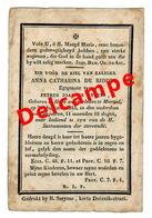 Lot 027 De Ridder Anna Catharina Hove 1842 Overleden Mortsel 24 Augustus 1842 - Devotion Images
