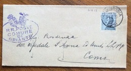 CADENABBIA COMO Su MICHETTI 30 C. SU LETTERA DEL COMUNE DI GRIANTE PER COMO IN DATA 31/8/28 - 1900-44 Vittorio Emanuele III