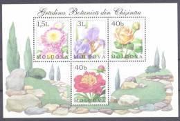 2002. Moldova, Flowers, Botanic Garden Of Kishinev, S/s, Mint/** - Moldavie