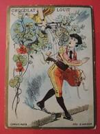 CHROMO.Chocolat LOUIT. Lith. Romanet. Symbole Des Fleurs. Espagne. CAPUCINE. Feu D'Amour. Guitare - Old Paper