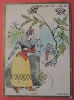 CHROMO.Chocolat LOUIT. Lith. Romanet. Symbole Des Fleurs. Espagne. CARMEN. Trahison. CIGUE - Old Paper