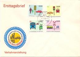 DDR ROAD SAFETY 1969 FDC  (GEN190146) - [6] Democratic Republic