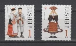 (S1868) ESTONIA, 1994 (Folk Costumes, 1st Issue). Complete Set. Mi ## 235-236. MNH** - Estonia