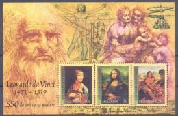 2002. Moldova, Leonardo Da Vinchi, S/s, Mint/** - Moldavie