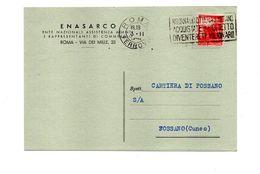 Lotteria Di Merano 1948 Su Cartolina ENASARCO - Affrancature Meccaniche Rosse (EMA)