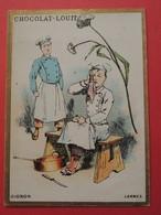 CHROMO.Chocolat LOUIT. Lith. Romanet. Symbole Des Fleurs. OIGNON.  Larme. Cuisinier - Old Paper
