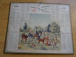 Almanach Des Postes De 1907 La Rentree Des Foins - Calendriers