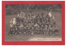 FRANCE -- MILITARIA -- GUERRE DE 14/18-- INTERNES FRANCAIS EN SUISSE (ST CERGUE)-- CP 1916--1 PLI D'ANGLE-- - Weltkrieg 1914-18