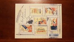 """BLOC FEUILLET F 5098 """"LES PLUMES D'ECRITURE"""" FRANCE 2016 - Stamps"""