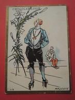 CHROMO.Chocolat LOUIT. Lith. Romanet. Symbole Des Fleurs.  LIS.  MAJESTE - Old Paper