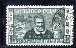 XP2611 - REPUBBLICA 1954 ,  N. 742/I (Carraro 250) MARCO POLO Usato: Dent 13 1/4 X 12 1/4 - 6. 1946-.. Repubblica