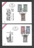 1969 - N. 1114/19 SU 2 BUSTE CON ANNULLO PRIMO GIORNO (CATALOGO UNIFICATO) - FDC