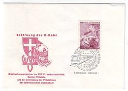 AUSTRIA FDC 1376,trains - FDC