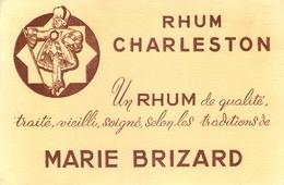 Buvard Ancien RHUM CHARLESTON - MARIE BRIZARD - Liqueur & Bière