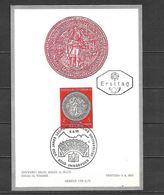 1970 - N. 1155 SU CARTOLINA CON ANNULLO PRIMO GIORNO (CATALOGO UNIFICATO) - FDC