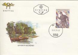 AUSTRIA FDC 1377,fishing - FDC