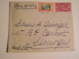 SENEGAL, Afrique Occidentale Française, Enveloppe,  1938, Timbres 3F + 50 - Sénégal (1960-...)