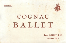 Buvard Ancien COGNAC BALLET - EUGENE BALLET ET COMPAGNIE - JARNAC - Liqueur & Bière