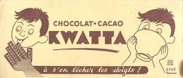 Buvard Ancien CHOCOLAT ET CACAO KWATTA - Chocolat